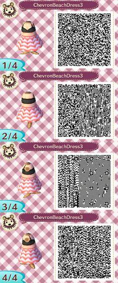Cheveron Beach Dress Pink QR Code by ChibiBeeBee.deviantart.com on @DeviantArt