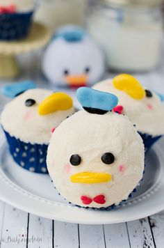 Make a batch of the sweetest Donald cupcakes ever. | 28 Disney-Inspired Recipes You Have To Try
