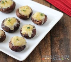 French Onion Stuffed Mushrooms {Via @Living Low Carb... One Day at a Time}