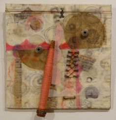 "Bobbins  12x13"" Clare Murray Adams - Bobbin and spindle series"