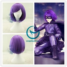 Kick Ass Hit Girl Purple Cosplay Wig #kivksdd #hitgirl #cosplay #wigs