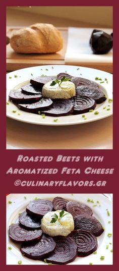 Roasted Beets with Aromatized Feta Mousse | Feta cheese aromatized with garden herbs accompany delicious, roasted beets | culinaryflavors.gr | #beets #feta #cheese #greek #appetizer