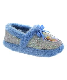 Love this Frozen Blue & Silver Slippers by Frozen on #zulily! #zulilyfinds