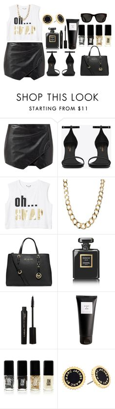 """Untitled #102"" by mimicherelus ❤ liked on Polyvore featuring Yves Saint Laurent, Monki, MICHAEL Michael Kors, Chanel, CARGO, Eight & Bob, Jin Soon and Marc by Marc Jacobs"