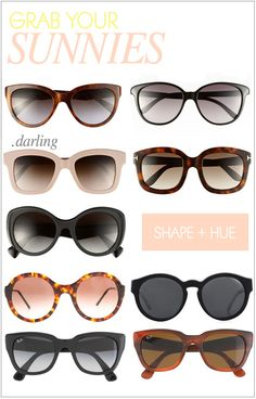 My favorite sunnies for summer 2013