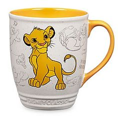 Simba Mug - Disney Classics Collection   Disney StoreSimba Mug - Disney Classics Collection - Let out a royal roar each morning after a lap or two from this kingly cup bedecked by authentic animation art from Disney's classic <i>The Lion King</i>.