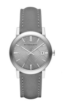 Women's Leather Strap Watch by Burberry on @nordstrom_rack