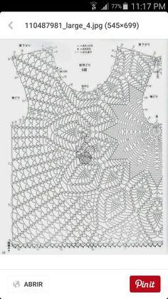 Suéter  en crochet  patrón
