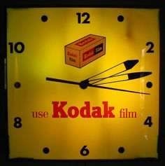 CLOCK~vintage kodak film