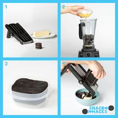 Oreo Snack Hack: Oreo Curls - 1 pack Oreo Cookies; 1 stick unsalted butter. Click to see the full recipe for this Oreo Snack Hack on our Tumblr.