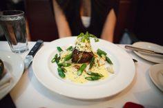 filet mignon, steamed asparagus, lump crabmeat and bearnaise sauce