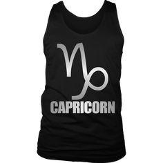 Capricorn Zodiac January Birthday Shirt For Women Silver
