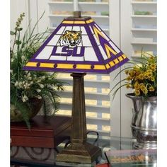 LSU Tigers Mission Style Table Lamp