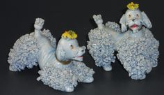 Gray Poodle Dog Figurines with Spaghetti Trim Made in Japan Ceramic Royal | eBay