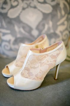 lace wedding heels | The Nichols