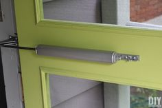 Install a hydraulic door closer so that the door closes on its own.