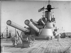 BRITISH SHIPS FIRST WORLD WAR (SP 1745)   The after 13.5-inch turrets of the battleship HMS EMPEROR OF INDIA.
