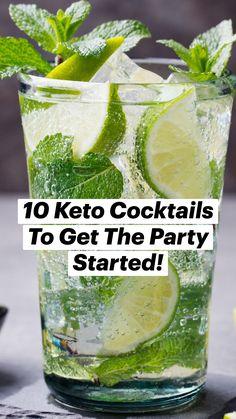 Low Calorie Drinks, Low Carb Cocktails, Frozen Cocktails, Healthy Drinks, Cocktail Recipes, Drink Recipes, Low Carb Keto, Low Carb Recipes, Low Carbohydrate Diet