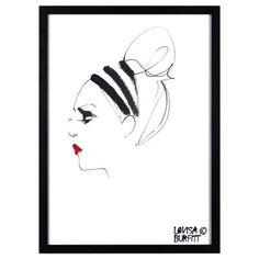 Lipstick Feu Rouge poster illustrerad av Lovisa Burfitt i exklusiv kollektion endast för Rum21....