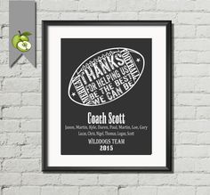 American Football word cloud Signing board for by TheArtyApples