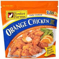 Foster Farms: Breaded Breast Portions With Orange Glaze Orange Chicken, 24 oz: Chicken Packets, Foster Farms, Rib Meat, Breaded Chicken, Orange Chicken, Oven Cooking, Fritters, Natural Flavors, Beignets