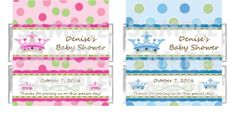 Personalized NEW LITTLE PRINCE PRINCESS BABY SHOWER candy bar wrappers FREE FOIL #BabyShower