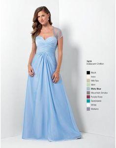 chiffon a-linje kjole