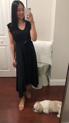 Ann Taylor Ruffle Sleeve Belted Maxi Dress, size XXSP