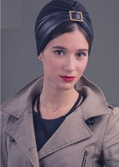 1058fb4b252ecd LOLA turban in padded material Leather Hats, Turban Hat, Turbans, Modest  Outfits,