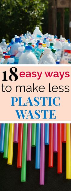 To reduce single-use plastic waste, swap out these 18 single-use plastic products for reusable and sustainable alternatives! Recycling Information, Plastic Alternatives, Eco Friendly Cleaning Products, Plastic Pollution, Eco Friendly House, Plastic Waste, Green Life, Go Green, Sustainability