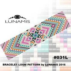 Bracelet pattern loom pattern square by LunamisBeadsPatterns