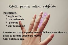 Reteta pentru maini catifelate Beauty Care, Hair Beauty, Natural Health Remedies, Dory, Glowing Skin, Good To Know, Skin Care, Healthy Recipes, Nails