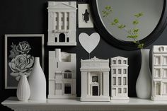 They even look good on a plain black canvas http://www.chiselandmouse.com/architectural-sculptures.html