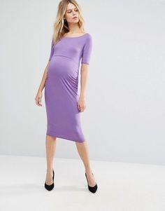ASOS Maternity | ASOS Maternity Bardot Dress With Half Sleeve