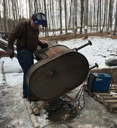 Sustainable ME - living and growing locally: From Oil tank to Sap Evaporator, Saturday March Post Maple Syrup Evaporator, Maple Sugar, Sugaring, Survival Skills, Welding, Homesteading, Buildings, Hunting, March