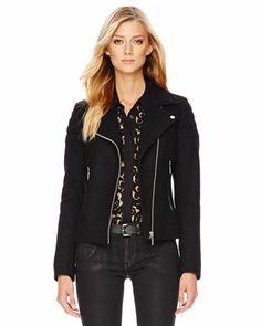 MICHAEL Michael Kors  Wool-Blend Moto Jacket... I want!