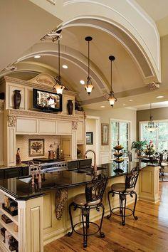 mutfak için uygun ocak. özellikle ocağın üzerindeki tv ve sandalyelerin konumu... yanlardaki gözler kullanışlı. sandalye sayısı az.