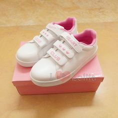 Free Shipping Kawaii Clup Heart Embroidery Casual Shoes Sport Shoes LK17081510