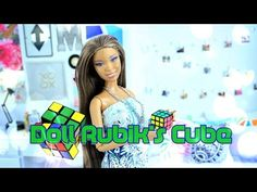 How to Make a Doll Rubik's Cube Easy Doll Crafts - YouTube