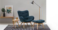 Doris Accent Chair, Shetland Navy | made.com