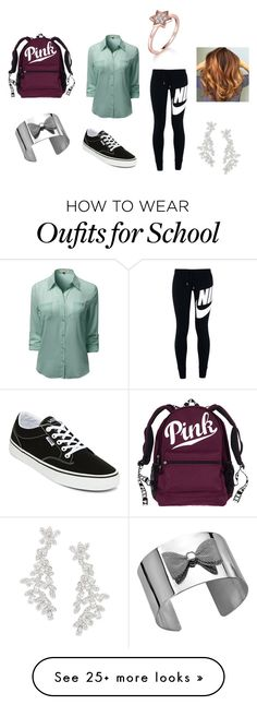 """""""School7"""" by mrsbieber123-396 on Polyvore featuring NIKE, Vans and Kate Spade"""