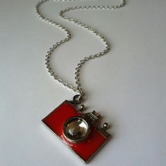 SAY CHEESE! vintage-style camera necklace Oh, this is so cute!!!  An old-fashioned style camera dangles from a silvertone chain.  A piece of jewelry I bought and never even tried on.  Nice size to the pendant...hold it up and strike a pose! Jewelry Necklaces