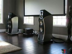 High end audio audiophile speakers Revel Ultimta Studio Speakers & Krell