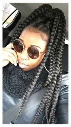 Jumbo Box Braids ; Sunglasses - Cache't                                                                                                                                                      More