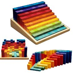 Stepped Counting Blocks by Grimm made in china wooden toys OEM factory www.siyutoys.com educational toys manufacturer