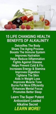 15 Awesome Health Benefits of Alkalinity. Get healthy and lose weight with our alkaline rich, antioxidant loaded, weight loss products that help you increase energy, detox, cleanse, burn fat and lose weight more efficiently without changing your diet, increasing your exercise, or altering your lifestyle. LEARN MORE #Antioxidants #Alkaline #Detox #Cleanse #FatBurning #WeightLoss #MetabolismBoosting