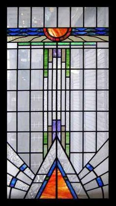 Art Deco Stained Glass stained glass-0002187 huge art deco gem
