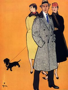 Fashion for Man and Woman (1955) by René Gruau