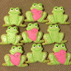 Tamara's Cookies:  Valentine's day.   Frog with a heart.  Frogs.