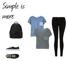 """""""simple is more"""" by nicoleaquilina on Polyvore featuring MANGO, Current/Elliott, Vans, women's clothing, women, female, woman, misses and juniors"""
